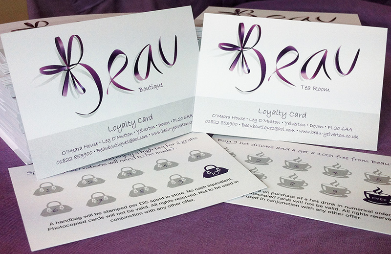 Beau Boutique loyalty cards
